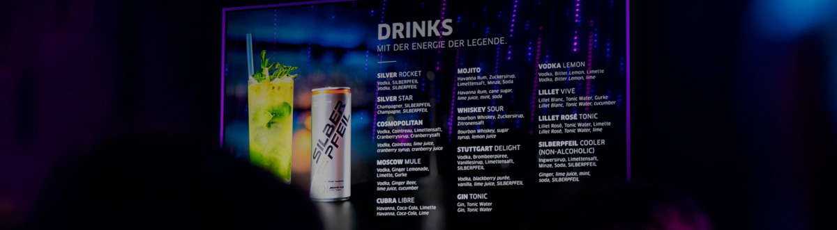 SILBERPFEIL Energy Drink Events